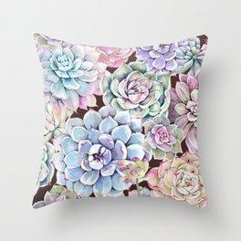 succulent allover Throw Pillow