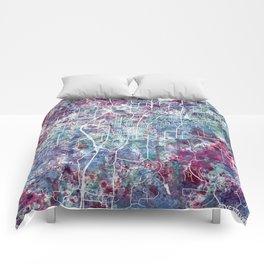 Fayetteville map Arkansas Comforters
