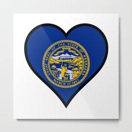 Love Nebraska Metal Print