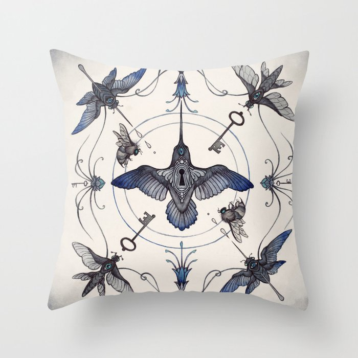 Pollinators Throw Pillow