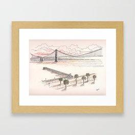 Overlooking Embarcadero at Sunset Framed Art Print