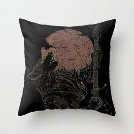 The Rock Werewolf Throw Pillow