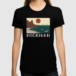 Minimalist Michigan Vintage Sunset T-shirt