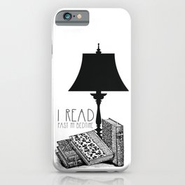 I read past my bedtime iPhone Case