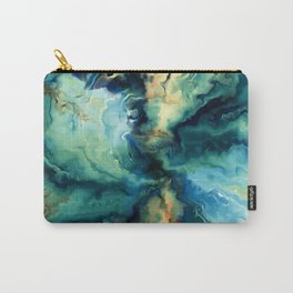 Marbled Ocean Abstract, Navy, Blue, Teal, Green Carry-All Pouch
