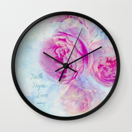 Faith Hope Love Wall Clock