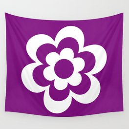 White And Purple Flower Wall Tapestry