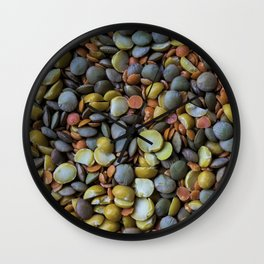 Split Peas Wall Clock