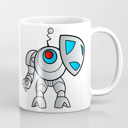 robot with a shield Coffee Mug