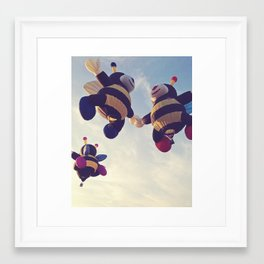 three bees Framed Art Print