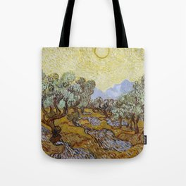 Vincent van Gogh - Olive Trees with Yellow Sky and Sun Tote Bag
