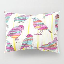 Birds Seen Rainbow Pillow Sham