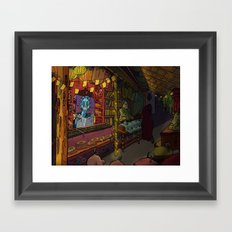 night bazaar Framed Art Print