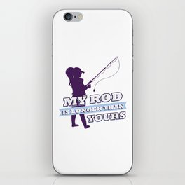 Funny Saying Meme Fishing Angling Fisherwoman Gift iPhone Skin