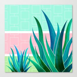 Palm Springs Mood ~ Midcentury Succulents Canvas Print
