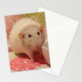 Pipes the Rat Smiling Stationery Cards