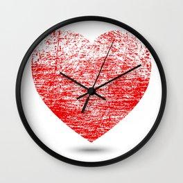 Grunge Heart Wall Clock