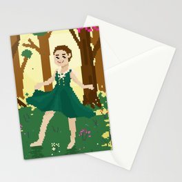 dancing in the forest Stationery Cards