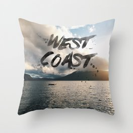 West Coast Beauty Throw Pillow