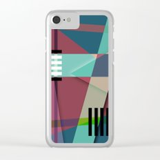 Abstract #410 Clear iPhone Case