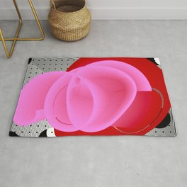 It's Red Rose. Abstract Art. Rug