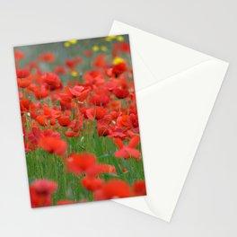 Poppy field 1820 Stationery Cards