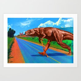 Its a long way from Amphioxus to the meanest human cuss Art Print