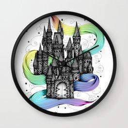 Super Magic Rainbow Dream Castle Wall Clock