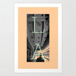 LA THEATRE 2 Art Print