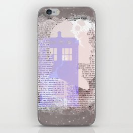 Eleventh Doctor and TARDIS newspaper iPhone Skin