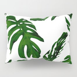 Simply Tropical Palm Leaves in Jungle Green Pillow Sham
