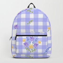 Spring picnic bouquets in Provence blue Backpack
