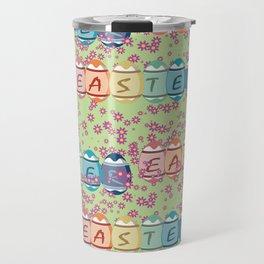 Easter word on eggs Travel Mug