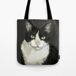 Cat Eightball Tote Bag