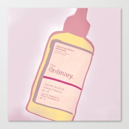 cute skincare inspired by the ordinary Canvas Print