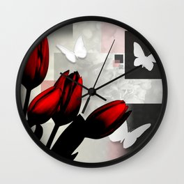 Assorted Squares, Flowers & Butterflies Wall Clock