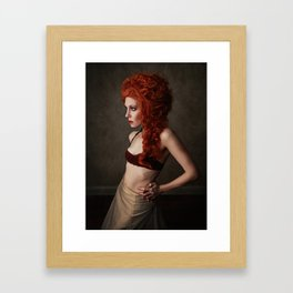 The Ginger Might Snap Framed Art Print