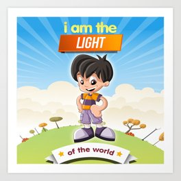 I am the Light of the world. Art Print