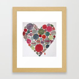 VALENTINE, my heart beats for you Framed Art Print