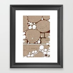 Rock Blueprint Framed Art Print