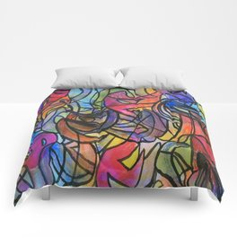 the abstract pen Comforters