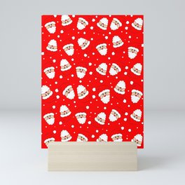 Whirling Santas Mini Art Print