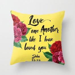 John 13:34 Throw Pillow