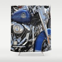 harley Shower Curtains featuring Harley by Veronica Ventress