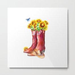 Western Sunflower Metal Print