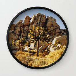 Gold Rush at Joshua Tree National Park Wall Clock
