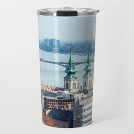 St. Anne's Church and Margaret Bridge in Budapest - Hungary Travel Mug