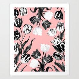 Bed Of Tulips Art Print