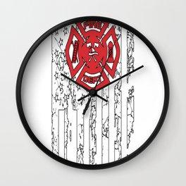 American Firefighter Wall Clock