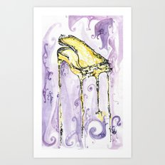 yellow piano Art Print